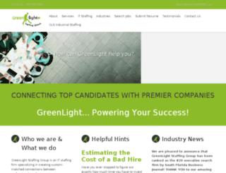 greenlightstaff.com screenshot