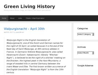 greenlivinghistory.com screenshot