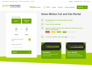 greenmotion.com.mx screenshot