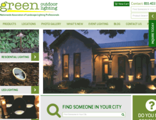 greenoutdoorlighting.com screenshot
