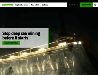 greenpeace.org.uk screenshot