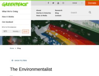 greenpeaceblogs.org screenshot