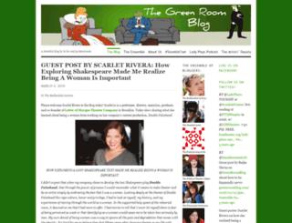 greenroomblog.com screenshot