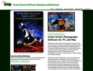 greenscreenwizard.com screenshot
