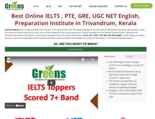 greenseducation.com screenshot