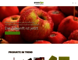 greensign.ch screenshot