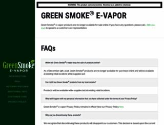 greensmoke.com screenshot