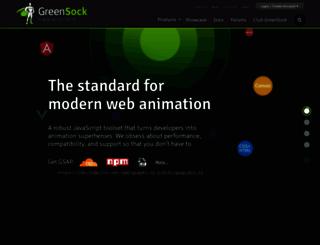 greensock.com screenshot