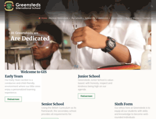 greenstedsschool.com screenshot