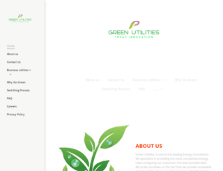 greenutilities.co.uk screenshot