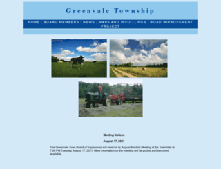 greenvaletwp.org screenshot