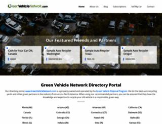greenvehiclenetwork.com screenshot