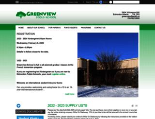 greenview.epsb.ca screenshot