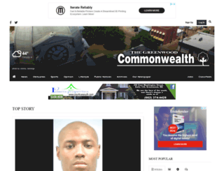 greenwoodcommonwealth.com screenshot