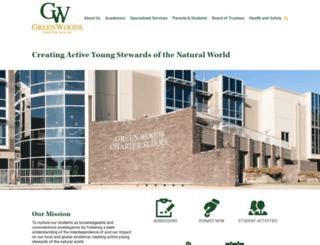 greenwoodscharter.org screenshot