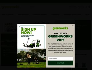 greenworkstools.com screenshot