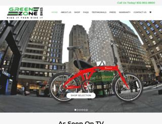 greenzonebikes.com screenshot