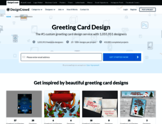greetingcard.designcrowd.co.in screenshot