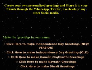 greetings.thewebpeople.in screenshot