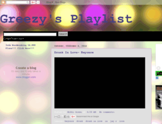 greezysplaylist.blogspot.com screenshot