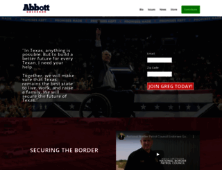 gregabbott.com screenshot