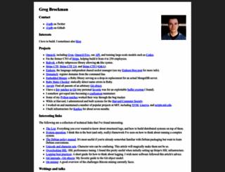 gregbrockman.com screenshot