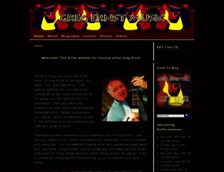gregernstmusic.com screenshot