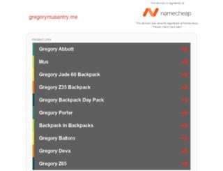 gregorymusantry.me screenshot