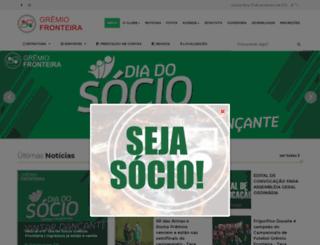 gremiofronteira.com.br screenshot