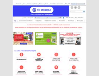 grenoble.cci.fr screenshot