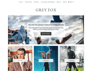 greyfoxblog.com screenshot