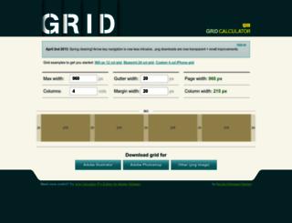 gridcalculator.dk screenshot