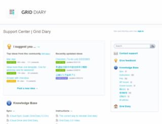 griddiary.uservoice.com screenshot