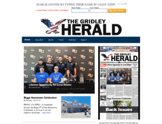 gridleyherald.com screenshot