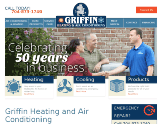 griffinheatingandac.isinproduction.com screenshot