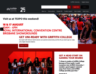 griffithcollege.edu.au screenshot