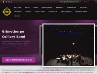 grimethorpeband.com screenshot