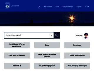 grimstad.kommune.no screenshot