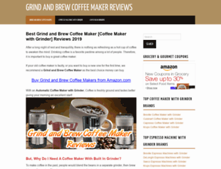 grindandbrewcoffeemakerreviews.com screenshot