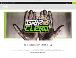 gripclean.com screenshot