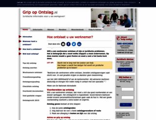 gripopontslag.nl screenshot