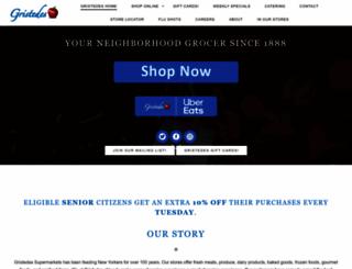 gristedessupermarkets.com screenshot