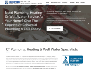 griswoldplumbingct.com screenshot