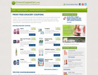 grocerycouponcart.com screenshot