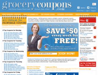 grocerycoupons.com screenshot