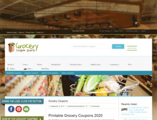 grocerycouponsource.com screenshot