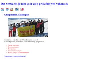 groepsreizen.sunweb.nl screenshot