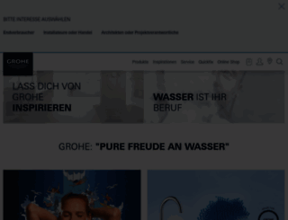 grohe.de screenshot