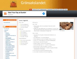 gronsakslandet.se screenshot
