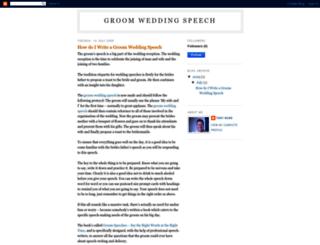 groomweddingspeech.blogspot.com screenshot